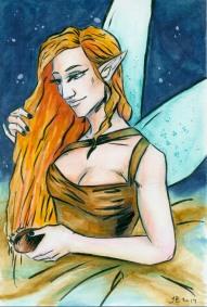 Red hair fairy