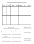 Monthly One-sheet Planner