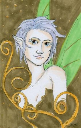 Olive Faerie Portrait