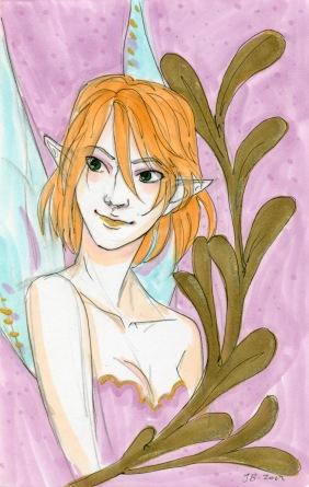 Violet Faerie Portrait